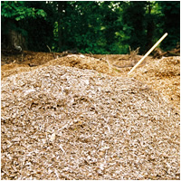 waste woodchippings